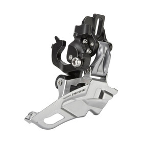 Shimano Deore FD-M611 Front Derailleur 3x10-speedTop-Pull clamp black/silver